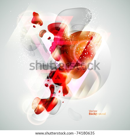 Abstraction red background - stock vector