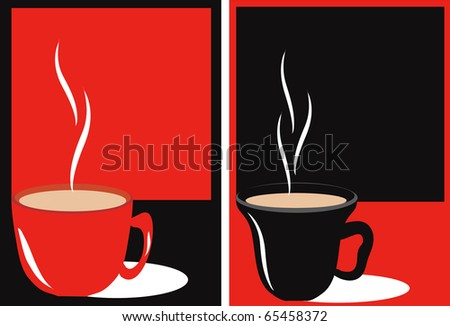 Abstraction with cups - stock vector