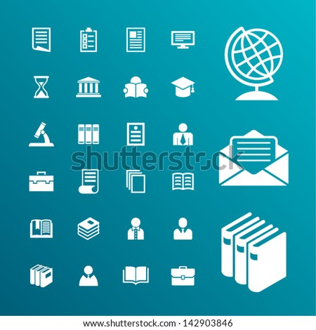 Academic and education icons - stock vector