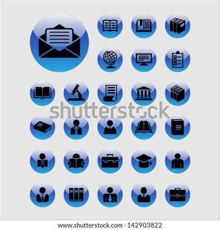 Academic icons - stock vector