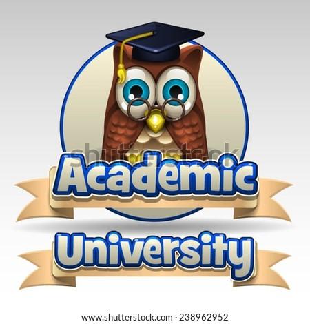 Academic University icon - stock vector