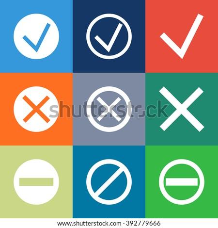 Set Check Marks Xs Stock Illustration 217003189 - Shutterstock