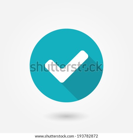 Accept icon, vector illustration. Flat design style - stock vector