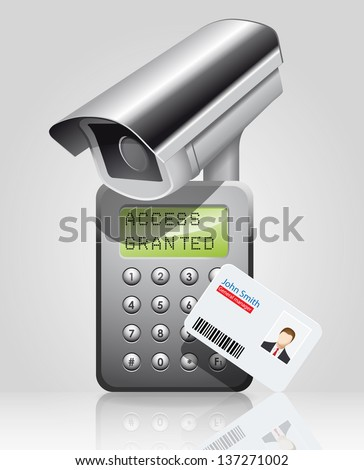 Access granted manager - stock vector