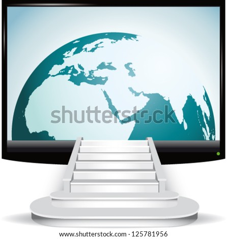Access to the internet and global communication - stock vector