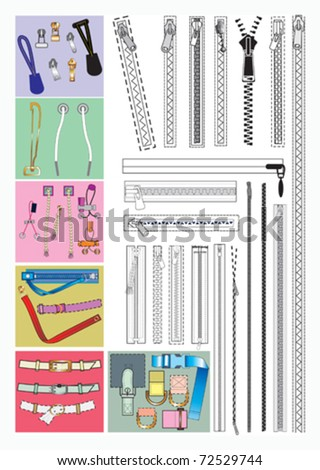 accessories - stock vector