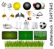 Accessories Collection of Various Sport - stock vector