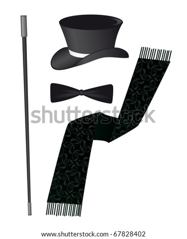 Accessories for the business gentleman. Vector illustration - stock vector