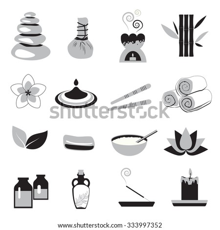 Accessories set for massage and sauna