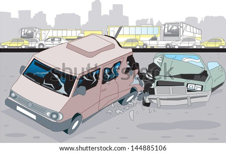 Accident - stock vector