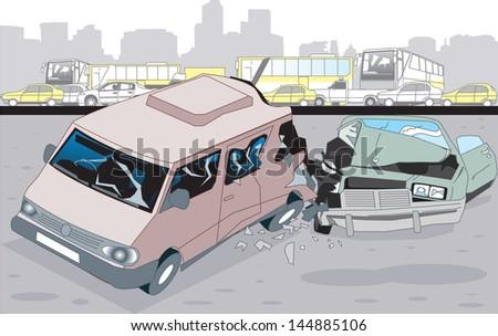 Accident - stock vector