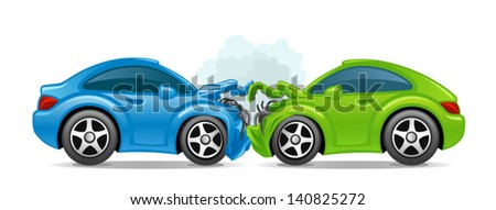 Accident car - stock vector
