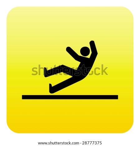 Accident web button - stock vector