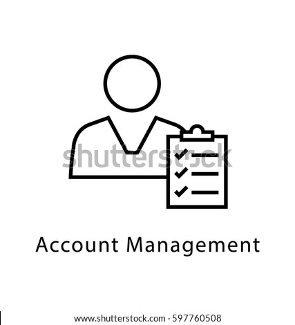 account management vector line icon stock vector royalty free