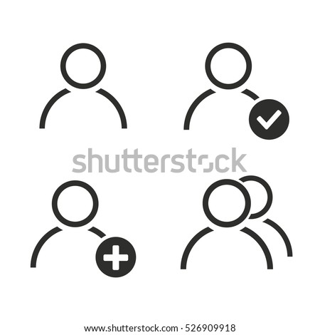 account vector icons set illustration isolated stock vector royalty