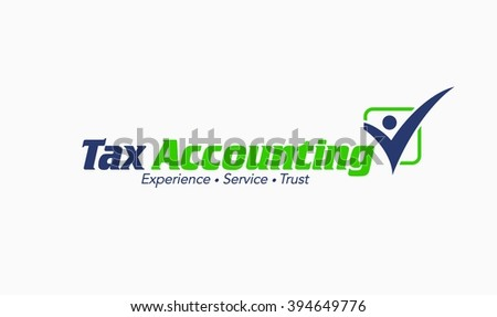 Accounting and Bookkeeping Logo - stock vector