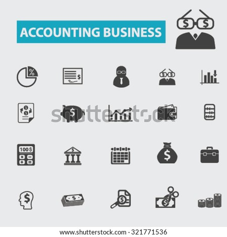 accounting business icons - stock vector