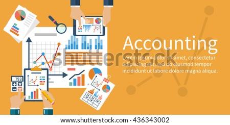 Accounting concept. Vector flat design.  - stock vector