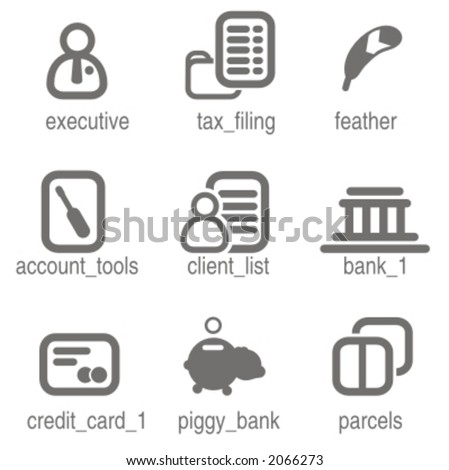 Accounting icons set 4. Check my portfolio for many more images from this series.