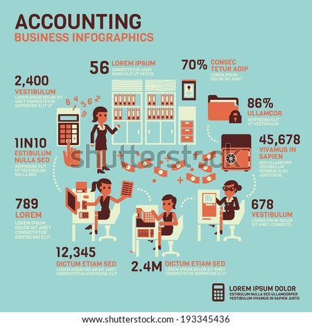 Accounting Infographics - stock vector