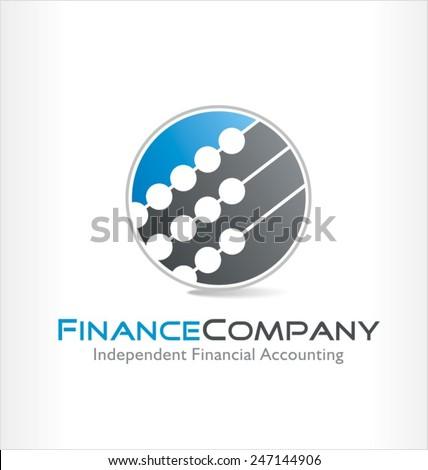accounting vector logo symbol - stock vector