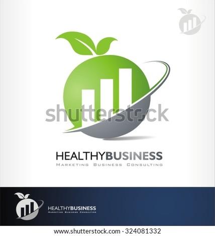 accounting vector logo symbol investment symbol - stock vector