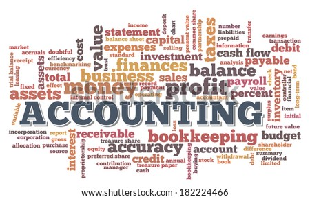 Accounting Word Cloud Word Bubble tags vector - stock vector
