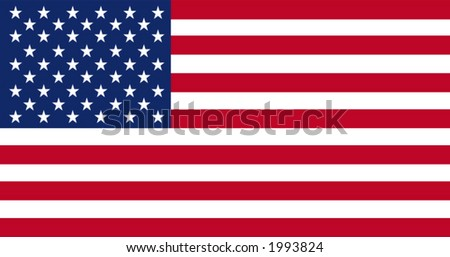 Accurate vector drawing of the flag of United States in terms of scale, size, colour, and size of the elements. - stock vector