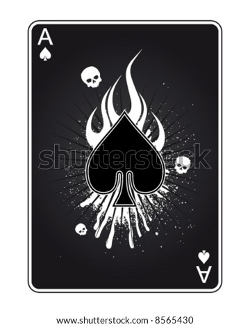 Ace Of Death - stock vector