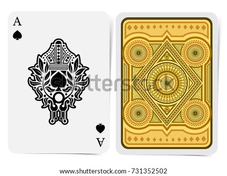 ace spades vector two sides card stock vector 637922419 shutterstock