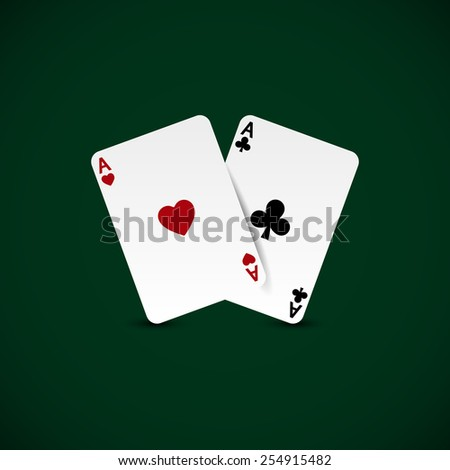 Ace Pair - stock vector