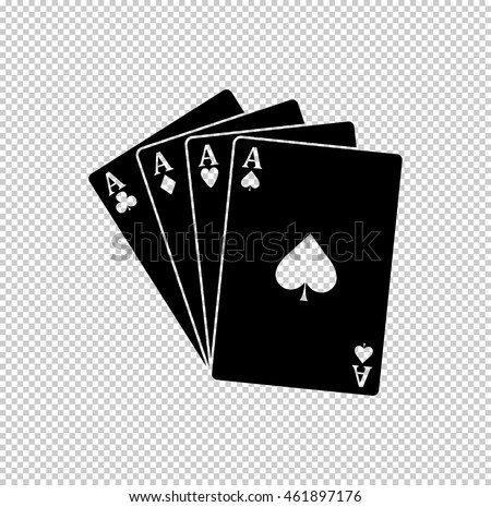 ace - Playing card  - black vector icon