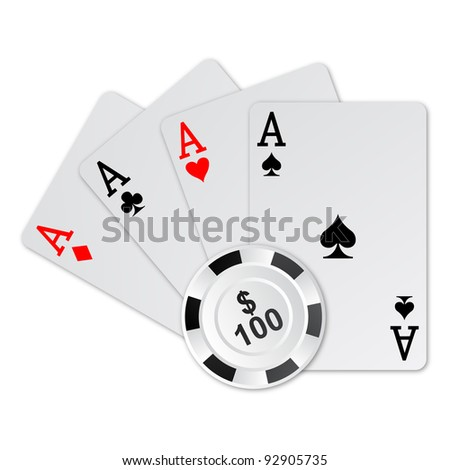 ace poker and poker chips