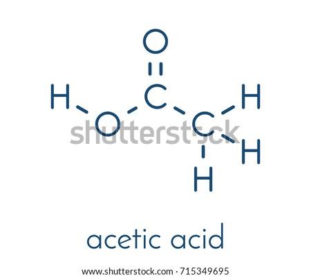 Acetic Acid Molecule Vinegar Aqueous Solution Stock Photo Photo