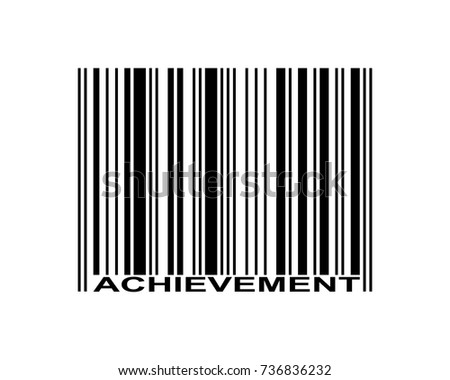 Achievement word and barcode icon