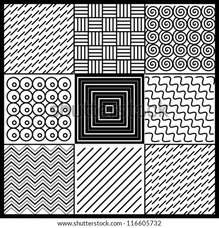 Achromatic geometric tiles