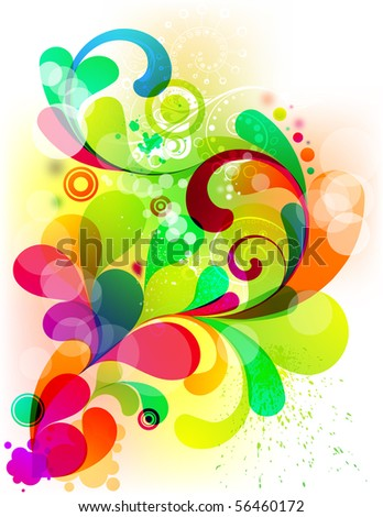 Acid graphic for your colorful design - stock vector