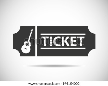 Acoustic Concert Tickets - stock vector