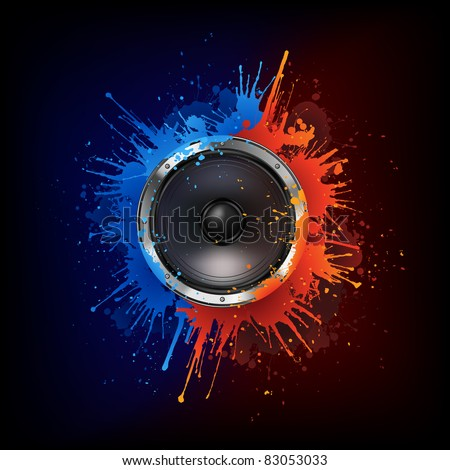 Acoustic Loudspeaker - stock vector