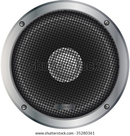 acoustic woofer - stock vector