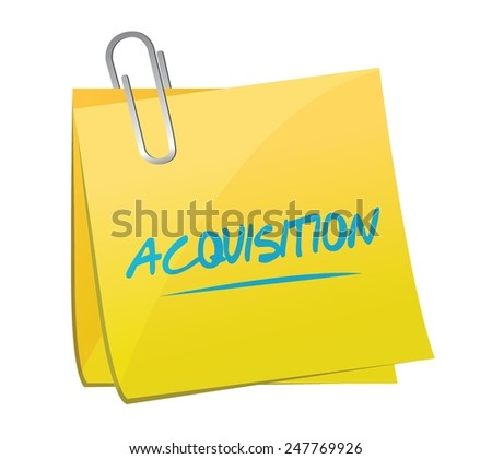 acquisition memo post illustration design over a white background - stock vector
