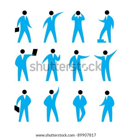 Active man symbol vector - stock vector