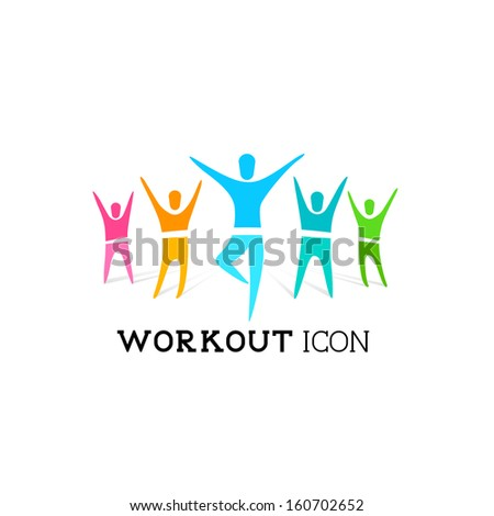 Active People Icon - Vector illustration - stock vector