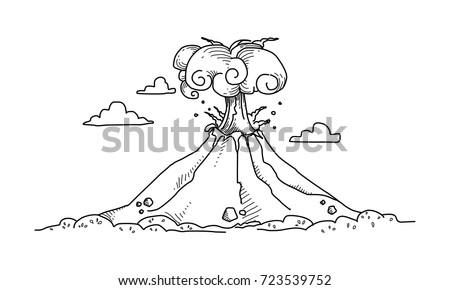 Active volcano doodle stock vector 723539752 shutterstock active volcano doodle ccuart Images