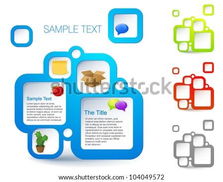 Actual web-design template. Vector bubble blocks. - stock vector