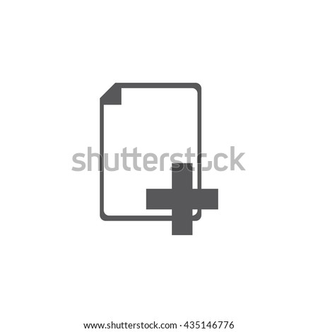 add file Icon, add file Icon UI, add file Icon Vector, add file Icon Eps, add file Icon Jpg, add file Icon Picture, add file Icon Flat, add file Icon App, add file Icon Web, add file Icon Art - stock vector