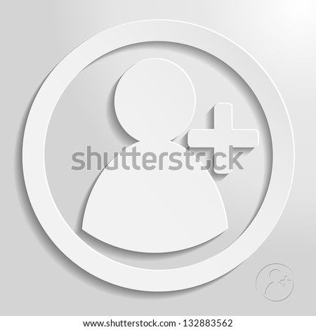add friend circle eps10 vector icon, bright style for your design - stock vector