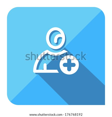 add new member icon. flat style. - stock vector