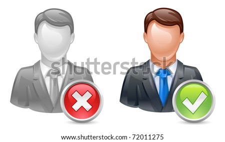 add or delete member or uer icon - stock vector