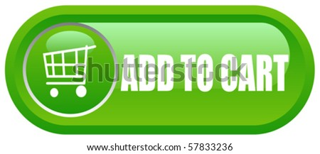 Add to cart button - stock vector